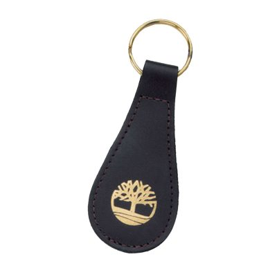 Top Grain Cowhide Leather Tear Drop 2-Sided Key Tag (Domestic)