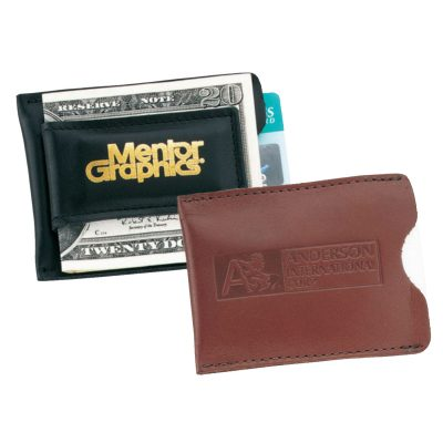 Top Grain Leather Magnetic Money Clip Card Case (Domestic)