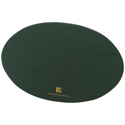 Top Grain Leather Oval Placemat (Domestic)