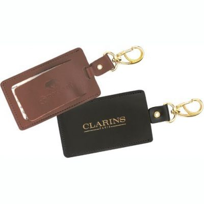 Top Grain Leather Swivel Luggage Tag (Domestic)